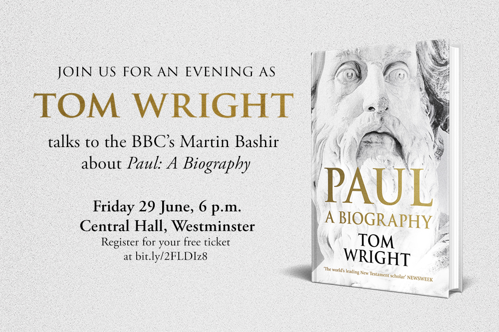 Book for Tom Wright Event
