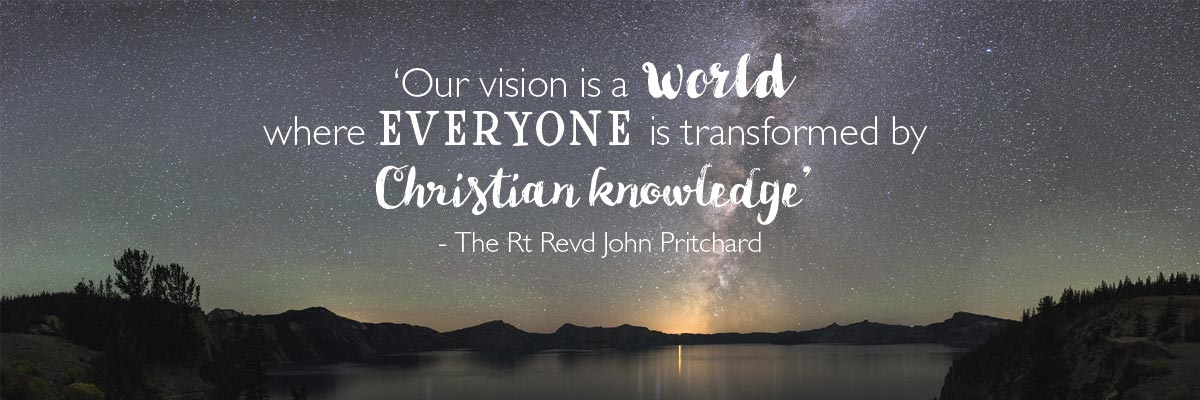 SPCK mission and vision quote banner